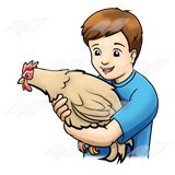Boy Holding Chicken