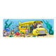 Undersea School Bus with fish children entering the open door