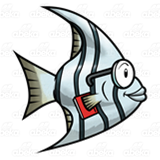 Gray-White Striped Fish