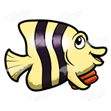 Yellow-Black Striped Fish