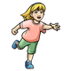 Running Girl with pink shirt