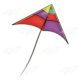 Colorful Triangle Kite
