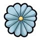 Flower Head blue, with thirteen petals