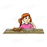 Girl Eating Peanuts
