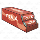 Open Case of Cola