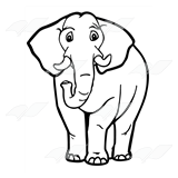 Elephant with Tusks