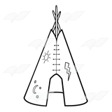 Tepee with Open Door