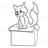 Orange Fox in a Box