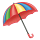 Open Umbrella multicolored
