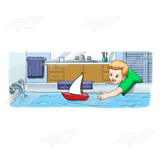 Sailboat in Bathtub