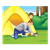 Dad and Son Camping Color PNG