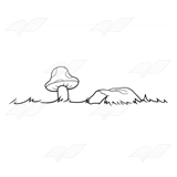 Mushroom and Rock