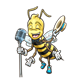 Singing Bee boy with microphone