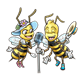 Singing Bees girl and boy with microphone