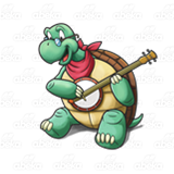 Turtle Playing a Banjo