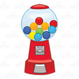 Red Gumball Machine