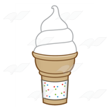 Soft-Serve Vanilla Cone