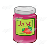 Strawberry Jam Jar