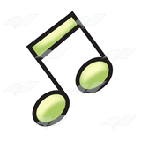 Green Eighth Notes