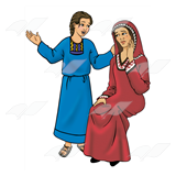 Naaman's Wife and Servant Girl