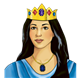 Queen Esther with jeweled crown