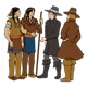 Pilgrims Talking to Indians