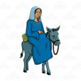Mary Riding Donkey