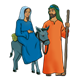 Mary and Joseph with donkey