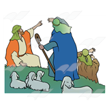 Shepherds on Hillside