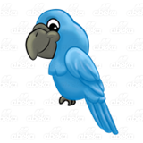 Happy Blue Parrot