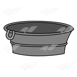 Metal Washtub 2