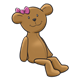 Teddy Bear with a pink bow
