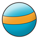 Blue Ball with orange stripe