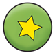 Green Ball with yellow star