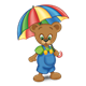 Button Bear with umbrella