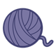 Ball of Yarn purple