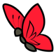 Bright Red Butterfly