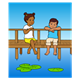 Boy and Girl on the Pier