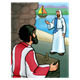 Jesus Calls Matthew with sea in background