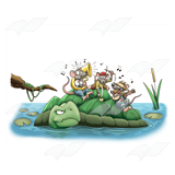 Annoyed Turtle with a Band