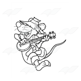 Rat Playing Banjo