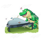 Crocodile Playing Piano
