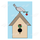 Gray Christmas Bird