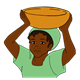Kenyan Lady with a bowl