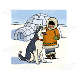 Eskimo with Husky