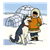 Eskimo with Husky Color PNG