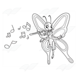 Butterfly Playing Flute