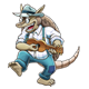 Armadillo playing ukelele