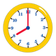 Yellow Clock showing 8:00