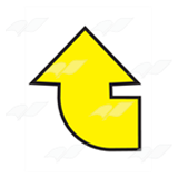 Curved Yellow Arrow